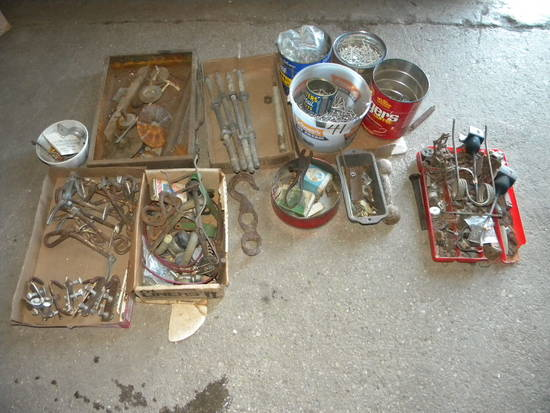 "Misc. Fasteners=sheet Metal Screws  1""; Anchor Bolts;     Hog Ringer And Rings;"