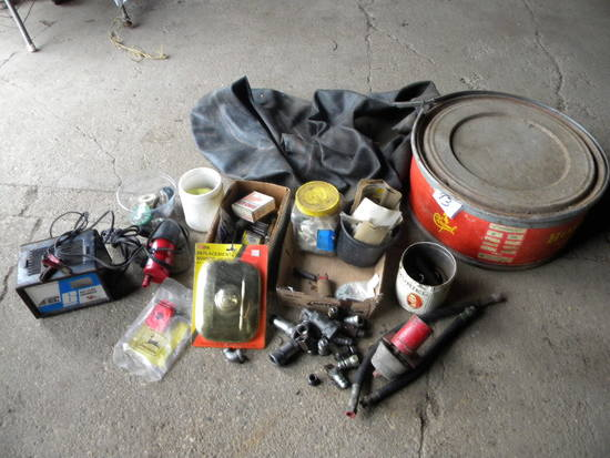 12 Volt Bat. Charger; New Replacement Mirror; 12 Volt Tank Heater, (2) Tire