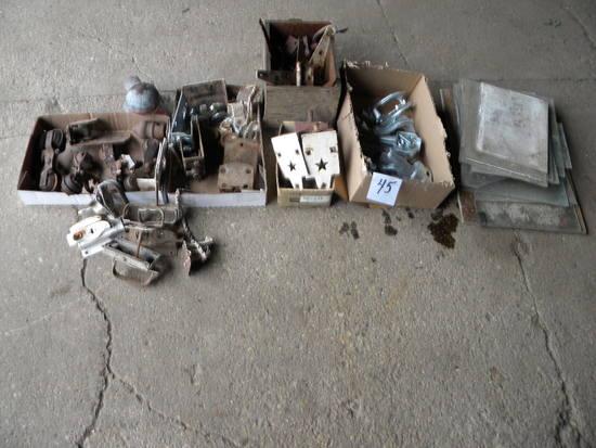 Old Barn Hardware= Door Latches, Door Rollers; Variety Glass Panes; Door Hi
