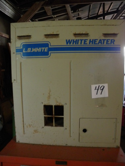 White Garage Overhead Gas Heater, Model 346g.