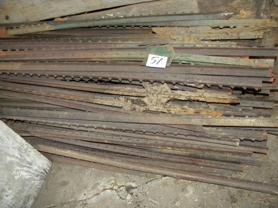 """Used 71"""" Steel Fence Post, (55)"""