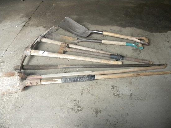 Post Hole Digger: Shovel; Pair Pick Axes.