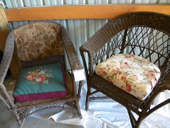 Wicker= Rocker; Leisure Chair.