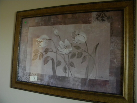 "Framed, Fabric Print, By Vass Sleek, 23""h X 55 1/2""w."