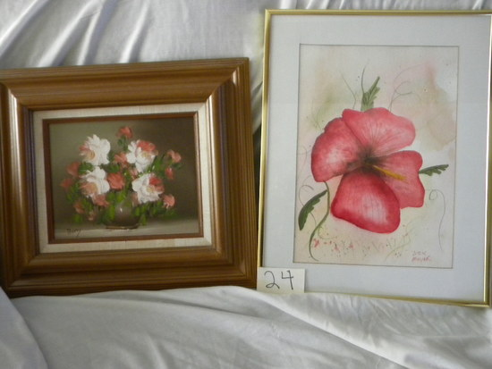 "Print, Dick Moyer, Framed/matted, ""poppy"", 13 1/2 X 9 3/4""."