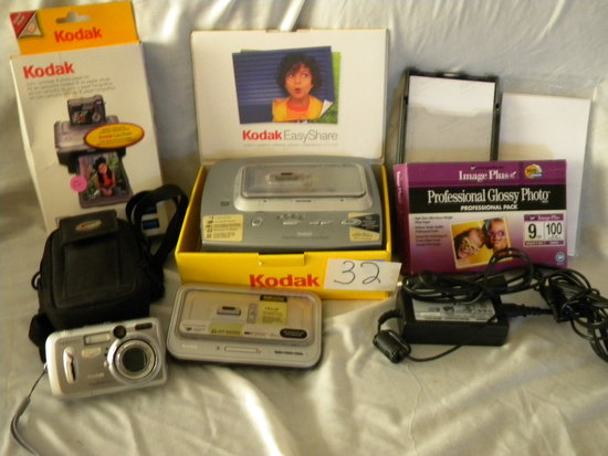 Easy Share= Kodak Dx 6440 Camera, Print Dock, Camera Dock 6000, Case/charg