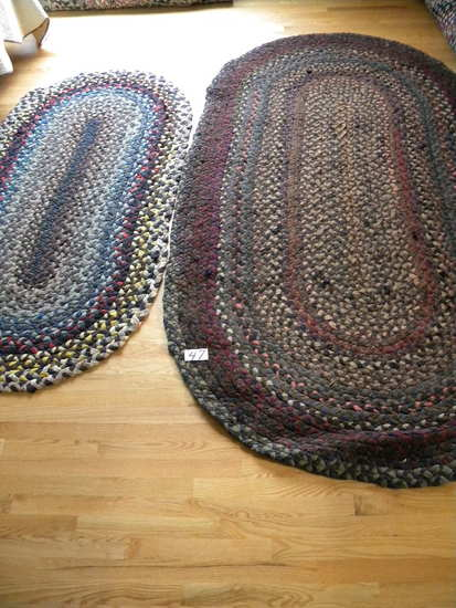 "2 rugs larger 6ft X 40"" Rectangular Hand Made Rug"