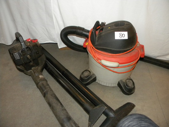 Craftsman Leaf Blower; Rigid Shop Vacuum.