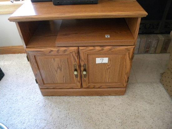 """Oak Stand, 2 Door, 27 1/2""""h X 29 1/2""""w X 19""""d"""