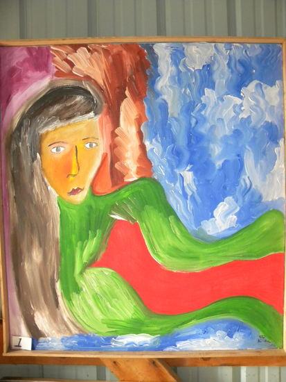 """nastaljca Seria"", Framed, 36 X32"", 2006.  Acrylic on canvas"