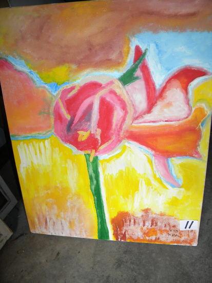 """""""amariles"""", 25 X 31"""". Acrylic on canvas"""