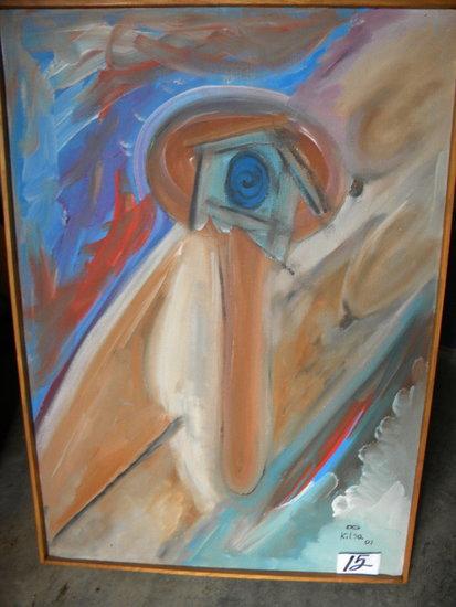 """""""corpo"""", 22 X 31"""", Wood Frame, 2001.Acrylic on canvas"""