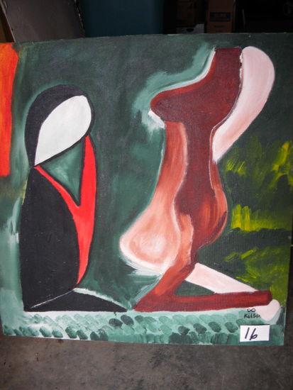 """sera"", 24"" X 25"", 2004.  Acrylic on canvas"