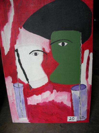 """""""flag Of Love"""", 20 X 30, , 2008. Acrylic on canvas"""