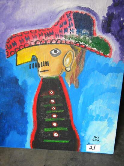 """""""Willie"""", 25 X 20 1/2"""". Acrylic on canvas"""