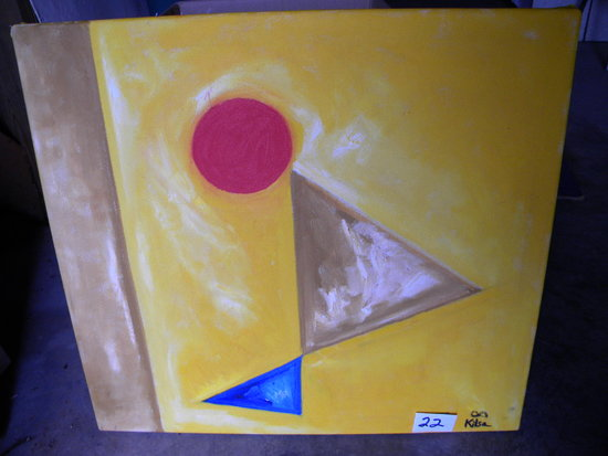 """""""Face  The Sun"""", 23 1/2 X 25 3/4"""", 2013.   Oil on lcanvas"""