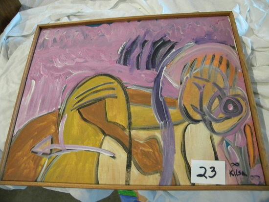 """Perk Sexo"", 20 X 16"", Frame, 2000.Acrylic on canvas"