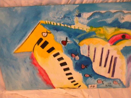 """""""Azala II"""", 36"""" X 24"""".Acrylic on canvas"""