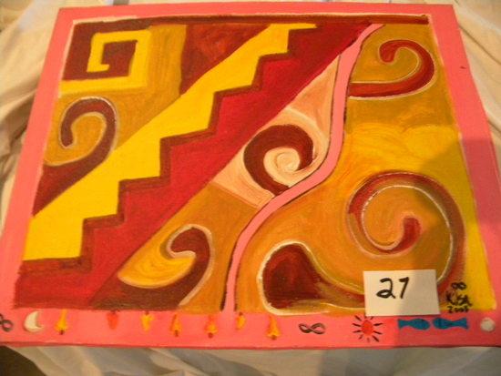 """""""Guaicuru II, 20 X 16, 2008.Acrylic on canvas"""