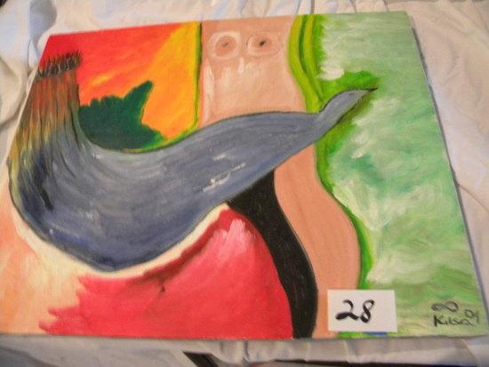 """Ondas"", 20 X 16"", 2004. Oil on canvas"