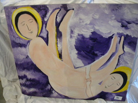 """Purple Storm"",38 1/2 X 33"", 2008. Acrylic on canvas"