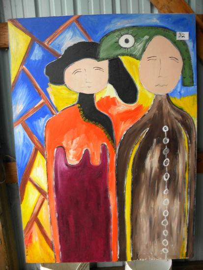 """""""Farmer And A Doll"""", 40 X 56"""", 2006.Acrylic  on canvas"""