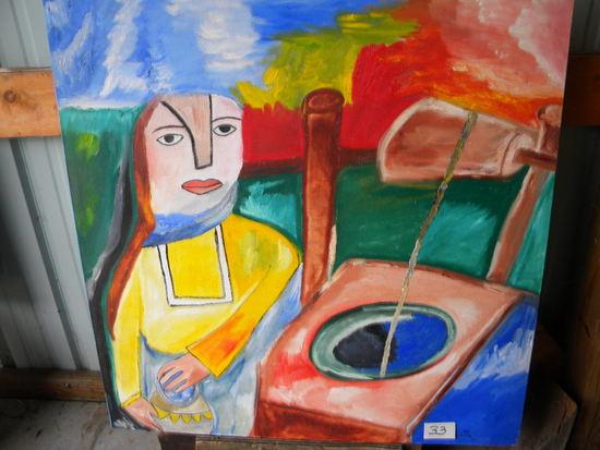 """""""Deep Well"""", 36 X 38 1/2"""", 2004. Acrylic on canvas"""