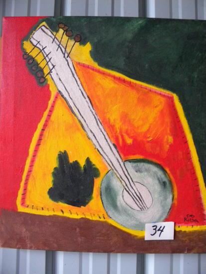 """""""Linha Vertical"""", 20 X22"""". Acrylic on canvas"""