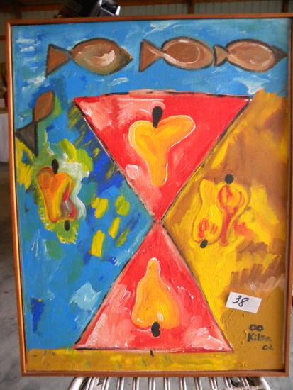 """""""Anytime"""", 29 X 22"""", 2003,  Framed"""