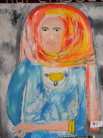 """Egyptian Women"", 27 X 23"".Acrylic on canvas"