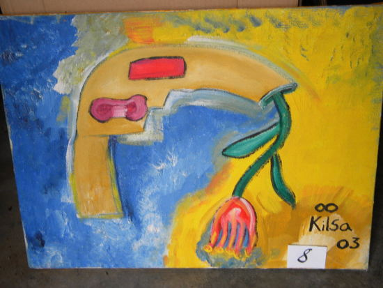"""""""suppose To Be A Flower"""", 16 X 28""""."""