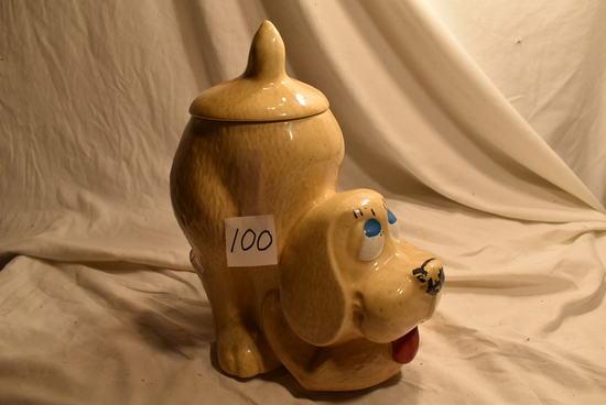 "Usa (McCoy) 272, Dog Cookie Jar, 11""h, No Visible Damage."