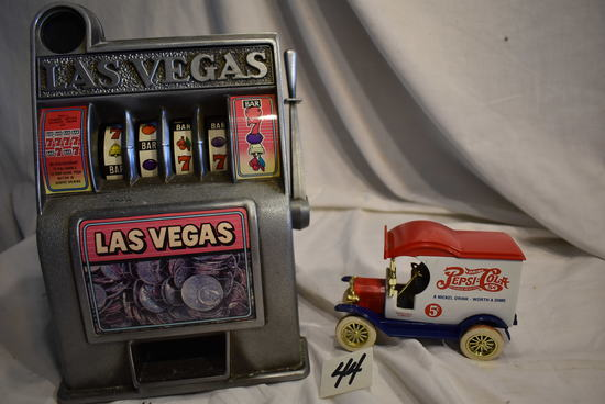 "Table Top Lasvegas, Replica Gaming Mechanical Mechanical, 11""h X 7""w. Ngd."