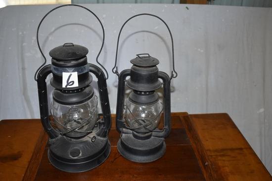 """Pair Of Dietz Kerosene Barn Lanterns, 18 & 16"""""""