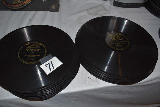 "Victor And Victoria 12"" And 10"" Talking Machine Records (34 Approx.)"