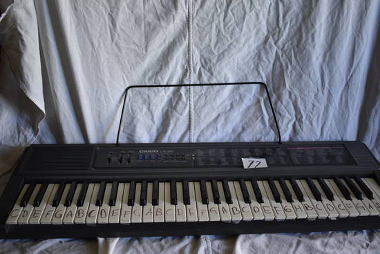 Casio Ctk Table Piano Keyboard, Batteries. (100 Convert Missing)