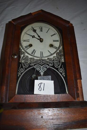 "Gilbert Wind-up Mantle Clock, W/o Key, 15 1/2""h X 10 1/2""w."