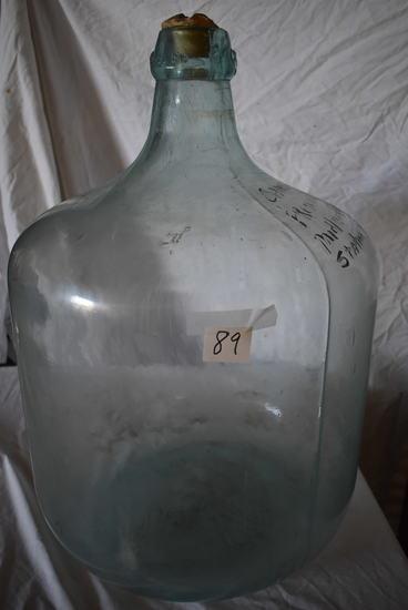 """Green Large 10 Gal Battery Service Station Acid Bottle, 24""""h X 18""""d."""