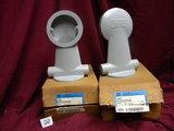 Two Vapo Guard Incondescent Light Fix, Wall Mount Bracket, Dxb114268, 3/4
