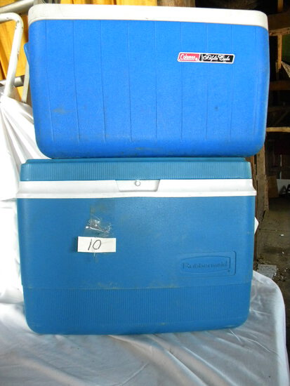 Coleman Polylite Ice Cooler; Gott Corp Ice Chest.