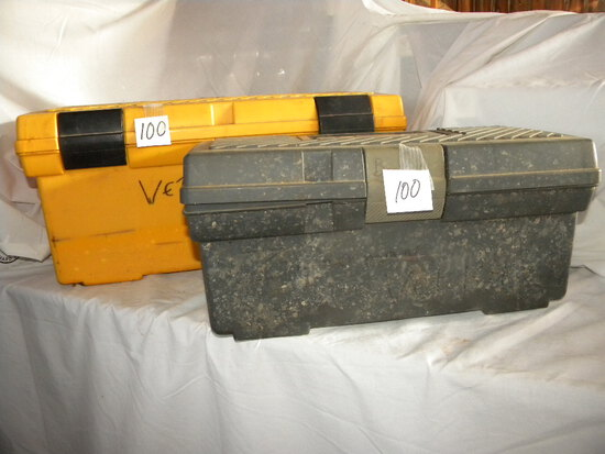 """Rubber Maid Tool Chest= Yellow- 7""""h X 15""""w; Gray= 9""""h X 20""""w"""