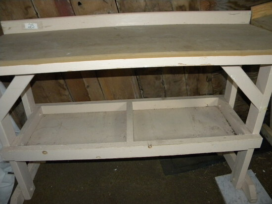 "Wood  Tool Bench 3 Ft. H, X 5 Ft W X 24""d"