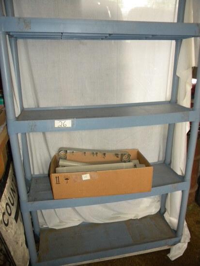 Plastic Shelving Unit, 6 Shelves, Small Beige Stack Shelf.