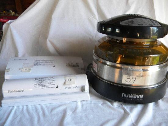 "Food Saver Seal/vac. #750; Food Saver Stor/cut 15""; Nu-wav Oven 14 X 15"