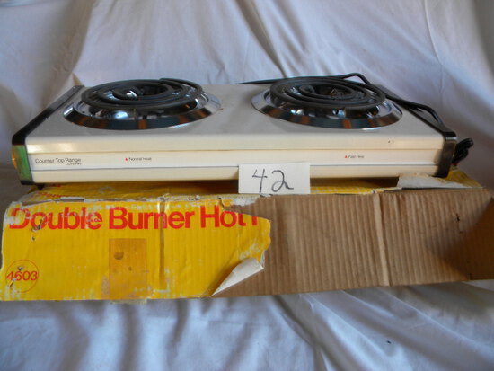 """Counter Top Range= Double Burners Jc Penny, New, 2 3/4"""" X 19"""" X9 1/2"""""""
