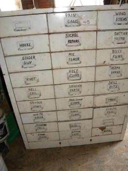 Metal Storage Unit With 27 Drawers