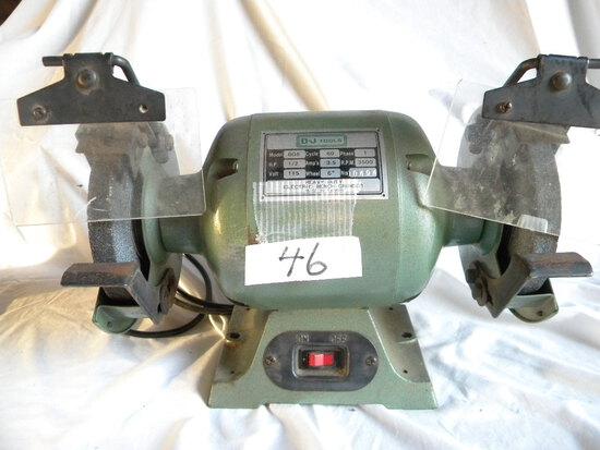 D.J. Tools, Heavy Duty Bench Grinder, 1/2 Hp. 110 V. Model Bg6