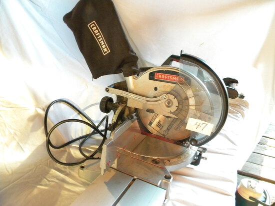 """Craftsman 19"""" Miter Saw, Model 315-212500, W Manual."""