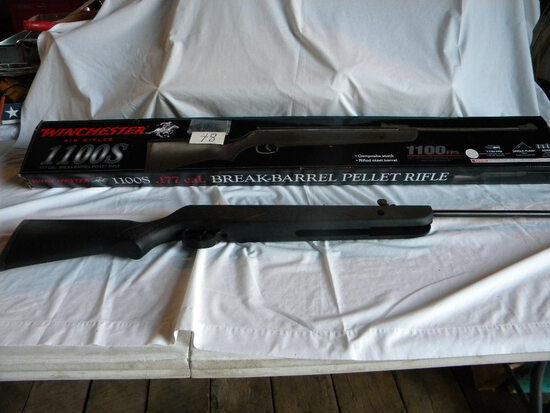 Wincehster .177 Pellet Air Rifle, Model 1100sps, Sinble Pump, Box Etc.