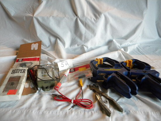 Electrical 12 V. Tester; 4 Large Clamps; Wire Cutter.